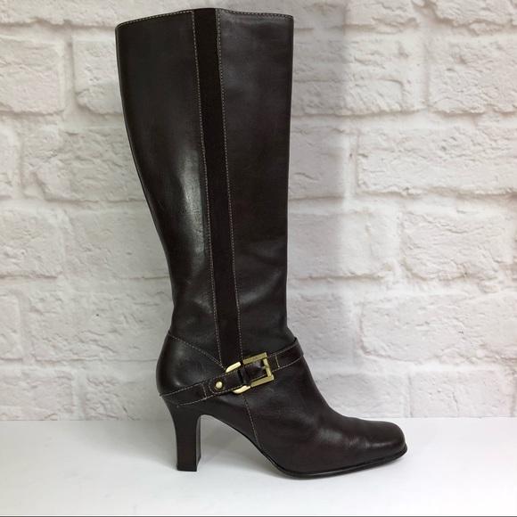 0b6b6d6cccf Anne Klein Shoes - Women s Anne Klein Brown Knee High Boots